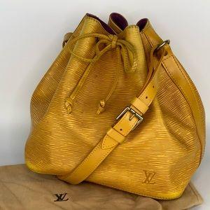 Authentic Louis Vuitton Epi Petit Noé Bucket Bag